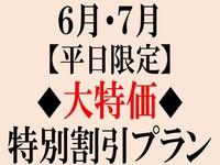 【平日限定】6月・7月◆大特価◆特別割引プラン