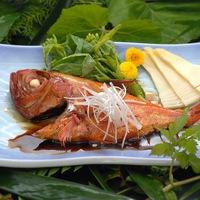 【2名に1匹金目鯛の煮つけ付き】 旬の養老渓谷の味覚と自慢の黒湯を堪能☆