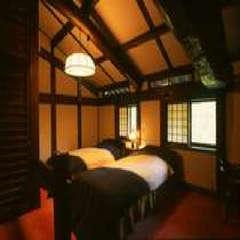 和洋室(二人静・サギソウ)/合掌造りの屋根裏を体感