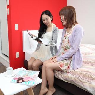 【女性専用・ダブル禁煙】ベッド1台(幅140cm)