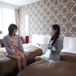 【女性専用・ツイン禁煙】ベッド2台(幅100cm)