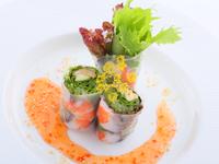 〜ちょっと贅沢に〜 亜仏料理&ワインのフルコース(食前酒・白・赤・食後酒)&温泉貸切