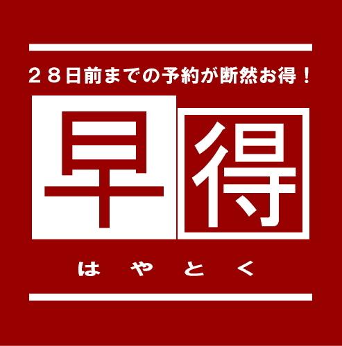 【レジャー・観光】28日前までの予約限定早得プラン★素泊り★