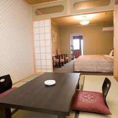 202号室 総ひのき風呂付き和洋室