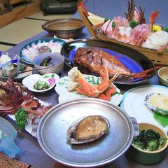 【静岡グルメ】歯ごたえ抜群!!選べるアワビ料理付きコース/現金特価
