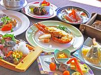 ≪2食付・きらめき≫海風館のデラックス☆アワビとサザエとエビのハーモニーをお楽しみください!