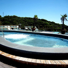 【1泊夕食のみ】一戸建コテージで白浜の眺望を満喫!大きなプールが無料♪