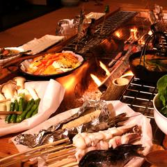 ※【炉端焼き】炭火焼きで頂く夕食グレードアッププラン[1泊2食付]【つながる灯り】