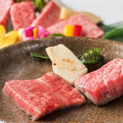 ■A5国産ブランド牛会席■<しゃぶ・ステーキ・握りぜ〜んぶ最高級♪>絶品霜降り肉を食べ尽くし♪
