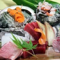 【冬得】獲れたて天然地魚の豪華お造り盛り合わせ(アワビ入り)付グルメプラン♪【料理自慢】【現金特価】