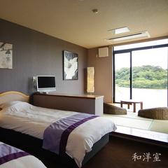 【和洋室】ゆったり和室×ツインベッドルーム