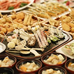 【訳あり】ステーキ・串揚げライブが人気の和洋中バイキング