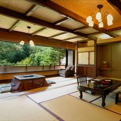 【S】谷川岳を望む源泉かけ流し露天風呂付特別室10+4.5畳