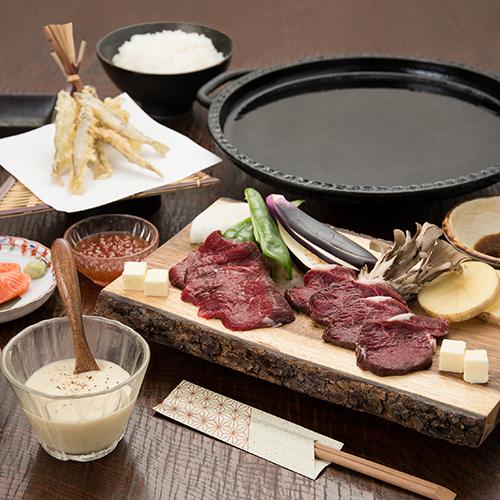 【 2食付 】エゾ鹿肉の鉄板焼が好評!郷土の味覚を堪能<無料貸切風呂で温泉ひとり占め♪