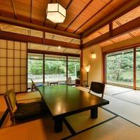 【温泉付特別室:緑水亭】数奇屋造 和洋室 お食事楓てらす