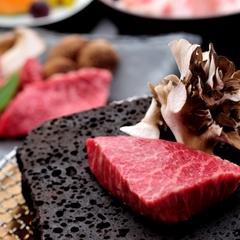 【贅沢お料理☆お肉大好き!】山桜会席プラン★特選A5ランク☆最高の新潟県産牛を熱々の溶岩プレートで!
