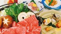 【牛すき焼きコース】あつあつお肉と旬のお野菜の牛すき焼きプラン(2食付)