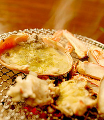 ◇【活】地カニ賞味フルコース◇〜地カニ(50%使用)も食べてお腹一杯!〜天然鳴き砂温泉でゆったり♪