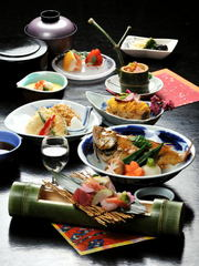OPEN45周年特別宿泊プラン★日本海万歳!地獲れ鮮魚の煮魚がセットになった旬魚会席「因幡」コース