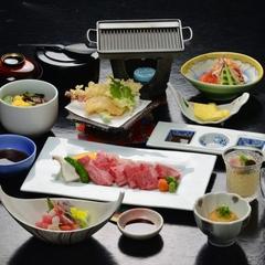 〔万葉コース〕一番人気「鳥取黒毛和牛ステーキ」を贅沢に!肉の旨味楽しむステーキ会席万葉コース