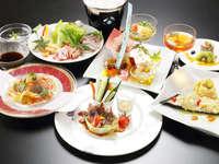 ★★贅沢な料理を楽しむシェフ特選ディナープラン★全室ひのき風呂付き★