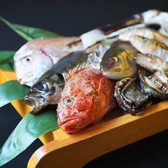 【魚料理中心プラン】日本海の幸を堪能「大漁会席膳」海鮮&庄内豚しゃぶ・栄螺の壺焼