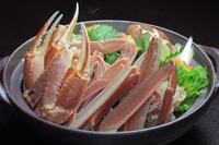 間人活ガニちょっぴり半分と上質ズワイガニ2杯と新鮮な魚介の大皿盛付でカニ大満足フルコースプラン!