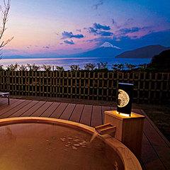 富士山と碧く美しい駿河湾を望む露天風呂付客室(スタンダード)