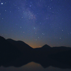 【ナイトウォッチング★ガイド付】大自然の暗闇体験★満天の星空と山の音