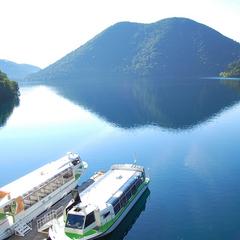 【然別湖☆遊覧船乗船券付】神秘の湖を湖上から楽しもう♪40分クルーズ <夕食はレストラン>