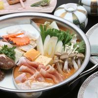 【あったか鍋プラン】海鮮みそ×鶏水炊き★ダブル鍋♪