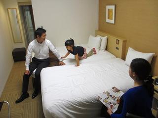 【家族旅行応援プラン】3名様1室のご予約で1名様分が無料に!朝食ビュッフェ付きの大サービスプラン