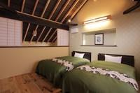 二階建て和洋室(和室8畳+ベットルーム)源泉かけ流し内湯付