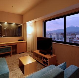 〔朝食付き〕最上階プレミアムツイン♪富士山眺望可能なビューバス付き☆