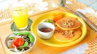 グレードアップ朝食★選べるパンケーキプレートでHappyな1日の始まり♪【朝食付】