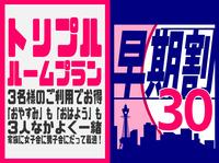 【3名様利用】 トリプルルームプラン + 早期割30 □素泊まり□