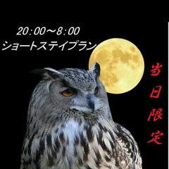 【当日限定】【現金特価】☆20時IN/8時OUT☆2人でショートステイ(素泊まり)