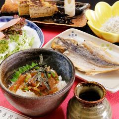 【朝食付き】大人気!漁師のまかない朝食《づけ茶漬け》を味わう♪