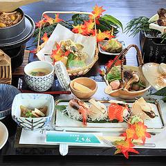 【松茸たっぷり6品】の松茸会席×赤城山や伊香保温泉の紅葉を愉しむ