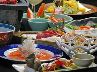 ★山陰一の水揚げの境港や地元の定置網でとれた 「今が旬の魚介類の会席料理」 プラン!