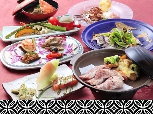 【シェフ自慢の特選洋懐石料理!選べるメイン】やわらかな和牛陶板焼きor潮風香るブイヤベース<E>