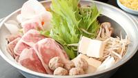 名物鉢伏鍋♪ジューシーなカモ&キジ肉とお出汁のしみた新鮮野菜をご飯で掻き込む1泊2食☆特典付