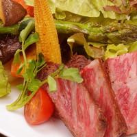【A5黒毛和牛プラン】お肉派の皆様必見のプラン メインをより豪華にA5和牛のステーキへ