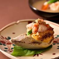 【1月限定】紅ずわい蟹真丈海老芋京の味噌仕立て 甘鯛と京壬生菜や聖護院蕪の霙仕立ての小鍋 一泊二食付