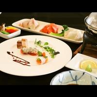 【前菜&メインは魚料理】鹿児島産真鯛やブリを使った前菜としゃぶしゃぶ&ハーフビュッフェ食べ放題プラン