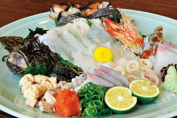 【お刺身が好きな方〜(^_^)/】<グルメプラン>絶品!おこぜ姿造りと旬菜旬味