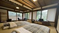 【離れ特別室】静寂の中で緑と山門を眺める和室−16畳トイレ付