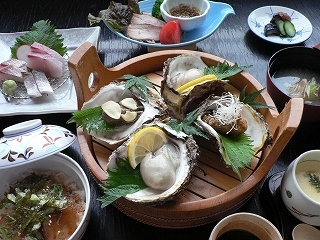 【山陰大周遊★】地産地消!(ご夕食はお食事処)生姜鍋膳、漁火御膳等