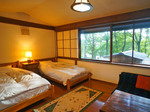 Main Building Standard Garden View Twin Room for Couples Only