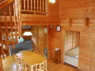 ☆家族や仲間で木の温もりいっぱいのログハウスに泊まろう!! 丘の上ログハウス